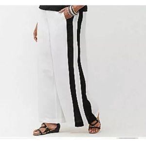 Lane Bryant Tuxedo Linen white pants 22-24